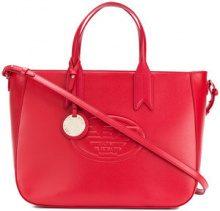 Emporio Armani - embossed logo bag - women - Polyurethane/Polyester - OS - RED