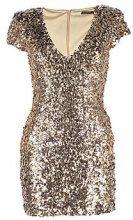 Petite Hannah Sequin Shoulder Pad Bodycon Dress