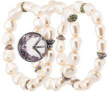 Camila Klein - three pearl-bracelets set - women - metal - OS - METALLIC
