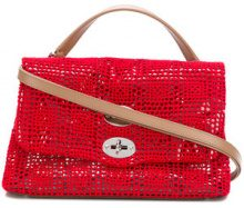 Zanellato - Borsa 'Postina S' - women - Cotton/plastic/Leather - OS - RED