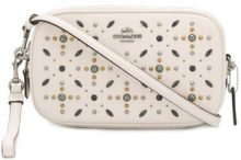 Coach - embellished crossbody clutch - women - Leather - OS - WHITE