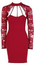 Maisy Lace Scallop Detail Bodycon Dress