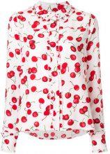 Essentiel Antwerp - Camicia con motivo ciliegia - women - Polyester/Acrylic - 34, 36 - PINK & PURPLE