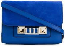 Proenza Schouler - PS11 Wallet With Strap - women - Leather/Suede - OS - BLUE
