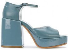 Mm6 Maison Margiela - Sandali con plateau - women - Goat Skin/Leather - 38.5, 39, 39.5 - BLUE