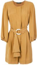 Andrea Marques - belted romper - women - Silk/Viscose - 38, 42 - YELLOW & ORANGE