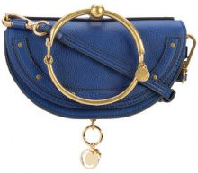 Chloé - Clutch 'Minaudiere' - women - Calf Leather - OS - BLUE
