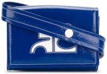 Courrèges - vinyl box logo waist bag - women - PVC - OS - BLUE