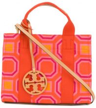 Tory Burch - printed mini Tory tote - women - Cotton/Leather - OS - YELLOW & ORANGE