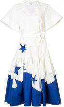 Delpozo - Vestito maniche larghe - women - Cotton - 34 - WHITE