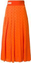 Fendi - Gonna midi plissettata - women - Silk/Polyamide/Polyester/Spandex/Elastane - 40, 42 - YELLOW & ORANGE