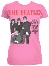 Unbekannt - Please Please Me, T-shirt da Donna, Rosa (Pink), Large (Taglia Produttore: 12)