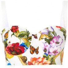 Dolce & Gabbana - Bustier stampato - women - Silk/Cotton/Polyamide/Spandex/Elastane - 38, 40, 42, 44 - WHITE