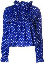 Marni - Blusa con stampa a pois - women - Cotton - 40, 42, 44 - BLUE