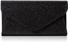 SwankySwans Carmen Glitter Sparkle - Pochette da giorno Donna, Nero (Black), 5x11.8x22.5 cm (W x H x L)