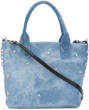 Pinko - Capolepre tote - women - Cotton/Polyester/Polyurethane - One Size - BLUE