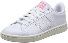 adidas Cloudfoam Advantage Clean W, Scarpe da Ginnastica Basse Donna, Bianco (Footwear White/Footwear White/Ray Pink), 37 1/3 EU