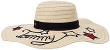 Tommy Hilfiger Tommy Stars Straw Hat, Cappellopello da Sole Donna, Beige (Natural 203), Taglia unica (Taglia Produttore: OS)