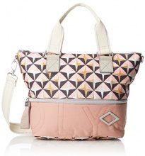 Oilily Charm Geometrical Handbag Shz - Borsa Donna, Rosa (Rose), 13x26x38 cm (B x H T)