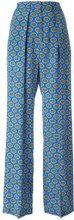 MSGM - print palazzo pants - women - Polyester/Silk - 38, 42 - Blu