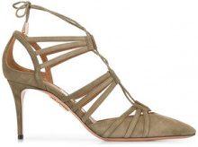 Aquazzura - 'Roma' pumps - women - Suede/Leather - 40.5, 36, 40 - Verde