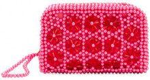 Shrimps - embellished Domenica clutch bag - women - Acetate/Viscose/Plastic - OS - PINK & PURPLE