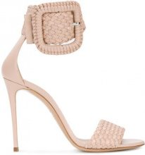 Casadei - Sandali con cinturino alla caviglia - women - Leather/Kid Leather - 36, 37, 37.5, 38, 40, 41, 38.5, 39, 40.5, 41.5 - NUDE & NEUTRALS