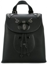 Hysteric Glamour - studded Bear backpack - women - Polyurethane/Polyester/Cotton - OS - BLACK