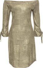Abito in jersey metallizzato (Oro) - BODYFLIRT