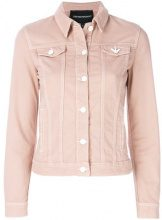 Emporio Armani - denim jacket - women - Cotton/Spandex/Elastane - 44 - PINK & PURPLE