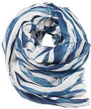 ESPRIT 027ea1q023, Sciarpa Donna, Blu (Teal Blue), Taglia unica (Taglia Produttore: 1SIZE)