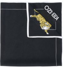 Kenzo - Foulard con stampa - women - Cotton/Silk - One Size - BLACK