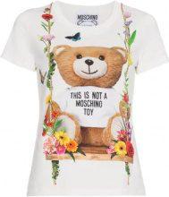 Moschino - T-shirt con motivo 'Teddy' - women - Cotton - 42, 44, 46, 38, 40, 36 - WHITE