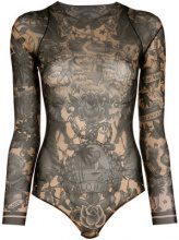 Dsquared2 - Hawaiian print body - women - Polyamide/Spandex/Elastane - S - BLACK