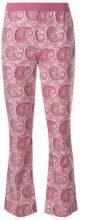 Twin-Set - Pantaloni con stampa paisley - women - Cotton - 42, 46, 38, 48, 50 - PINK & PURPLE