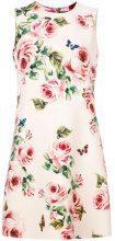 Dolce & Gabbana - Tubino con stampa a rose - women - Silk/Polyester/Spandex/Elastane/Wool - 42, 44, 46, 48, 40, 38 - NUDE & NEUTRALS