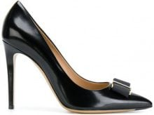 Salvatore Ferragamo - Pumps con fiocco 'Vara' - women - Calf Leather/Leather - 4.5, 5.5, 6.5, 7.5, 8.5, 9.5, 10.5 - BLACK