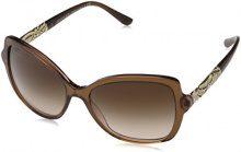 Bvlgari 8174, Occhiali da Sole Unisex Adulto, Marrone (Striped Brown Transparent), 56