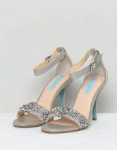 Blue By Betsy Johnson - Sandali da matrimonio argento decorati con tacco