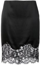 Givenchy - lace panel mini skirt - women - Silk/Cotton/Polyamide/Acetate - 38, 40, 42 - BLACK