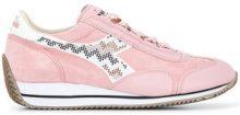 - Diadora - Sneakers 'Equipe Pearls' - women - Cotone/Calf Leather/Polypropylene/RubberLeather - 5, 6.5, 5.5, 4, 4.5 - Rosa & viola