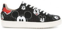 Moa Master Of Arts - lace up Mickey sneakers - women - Calf Leather/Leather/rubber - 36, 37, 38, 39, 40 - BLACK