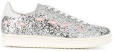 Moa Master Of Arts - Flamingo glittered sneakers - women - Cotton/Leather/Metallized Polyester/rubber - 36, 38, 39, 40 - METALLIC