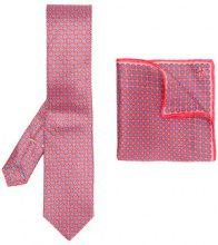 Canali - Cravatta e pochette da taschino - men - Silk - OS - RED