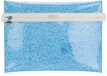Mm6 Maison Margiela - transparent clutch - women - Polyamide/PVC - One Size - BLUE