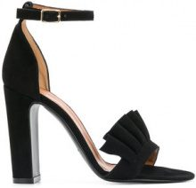 Via Roma 15 - chunky heeled sandals - women - Leather/Suede - 37, 37.5, 38, 41 - BLACK