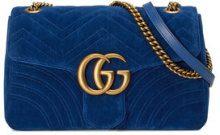 Gucci - Borsa a spalla GG Marmont in velluto - women - Velvet/metal/Silk - One Size - BLUE