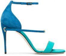 Jennifer Chamandi - Sandali 'Rolando 105' - women - Leather/Suede - 35, 36, 36.5, 37, 37.5, 38, 39, 39.5, 40, 40.5, 41 - BLUE