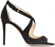 Jimmy Choo - Sandali 'Emily 100' - women - Leather/Suede - 36, 36.5, 37, 38, 38.5, 39, 39.5, 40 - BLACK