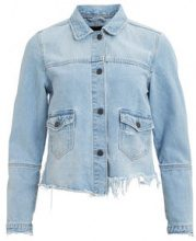 OBJECT COLLECTORS ITEM Ripped Denim Jacket Women Blue